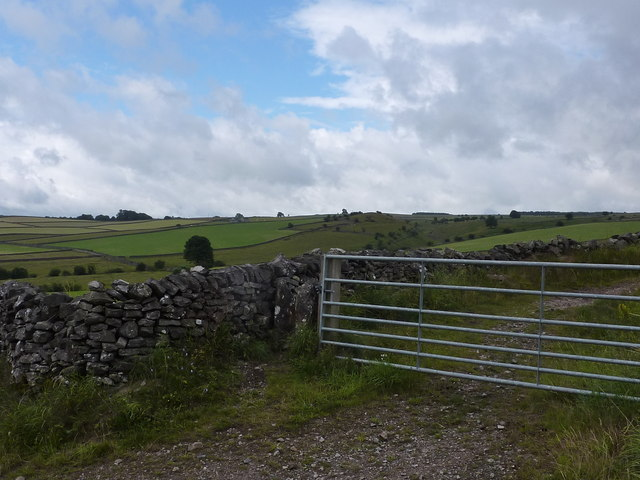 Gate and view over Jennings Dale