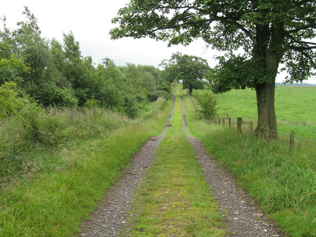 End of the track south of Dormanstead Farm