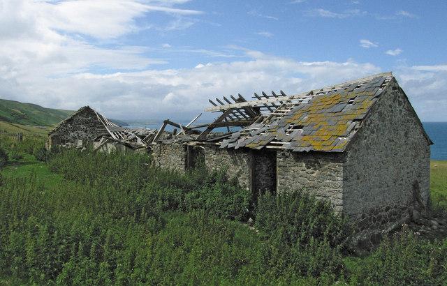 Farm ruins at Ffos Las