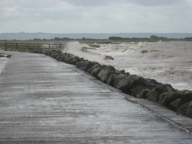 Summer Storm Severn Seafront