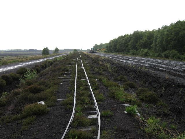 Peat railway tracks, Bolton Fell