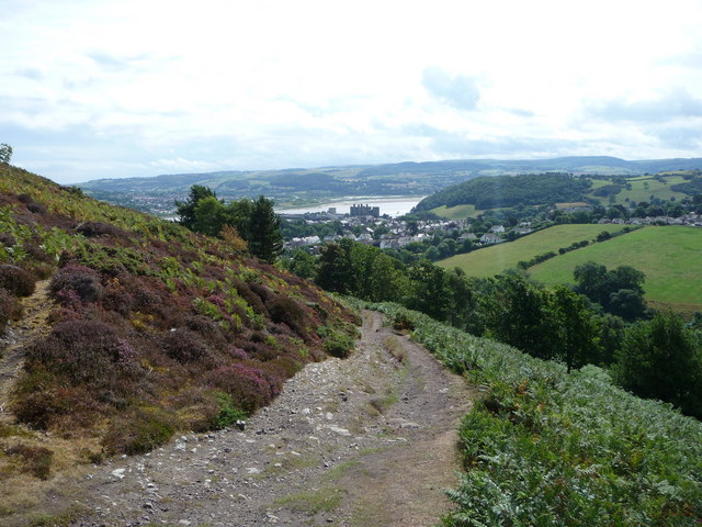 The path onto Conwy Mountain