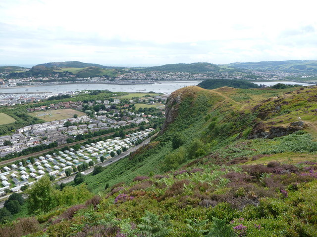 View from the North Wales Path on Conwy Mountain