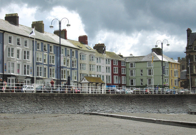 Part of the seafront at Aberystwyth
