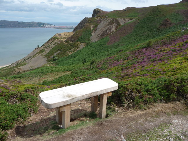 Bench on Conwy Mountain