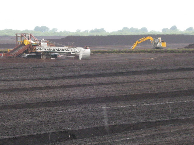 Peat extraction in the rain, Bolton Fell