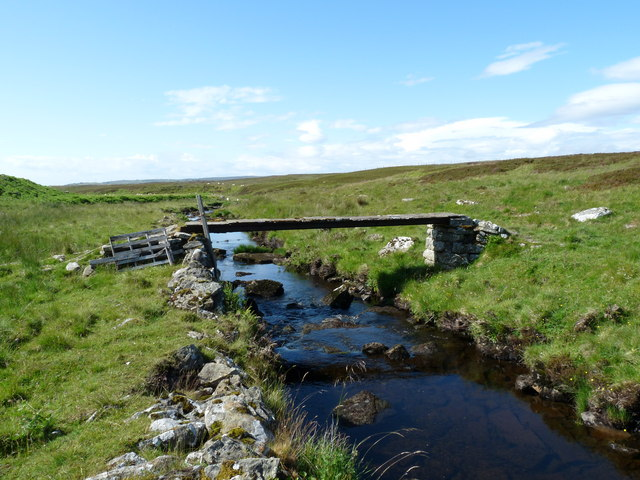 Footbridge over the Burn of Houstry