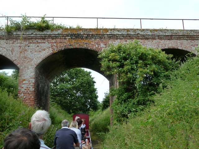 Warham: a fine three-arched railway bridge