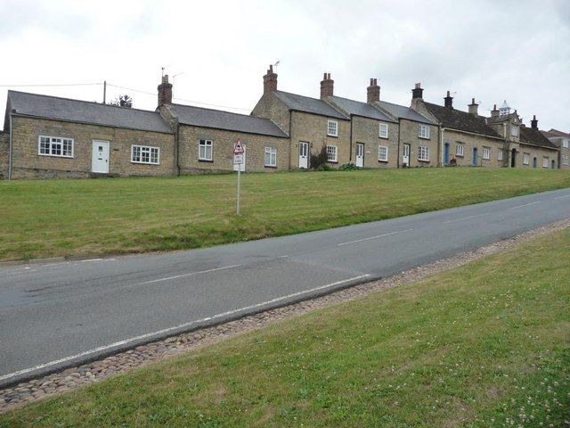 Houses on the village green, Coxwold