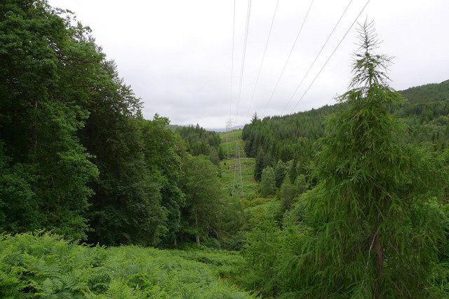 Power line from Tummel Bridge