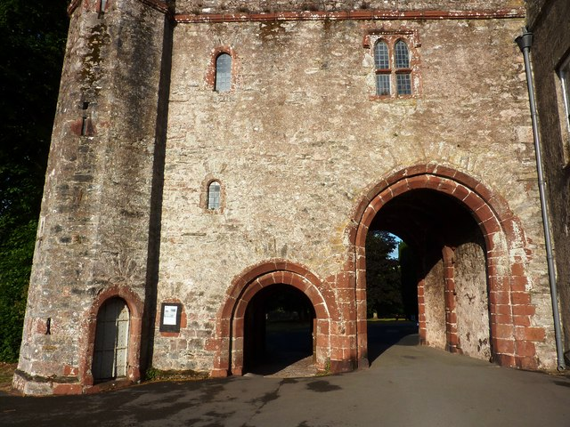 Interior view of entrance doors, Torre Abbey