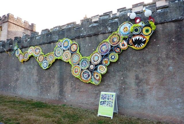 Dragon, walls of Torre Abbey, Torquay