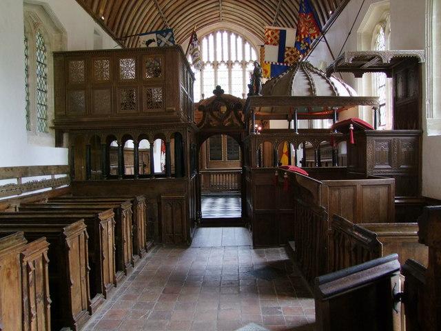 Seventeenth Century Pews at Rycote Chapel