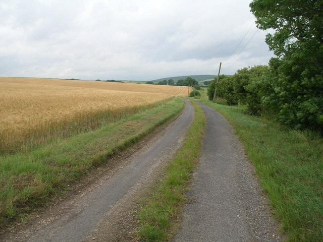 Minor road towards Linton Wold Farm