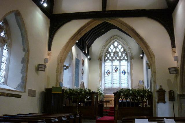 Interior, Boughton Malherbe Church