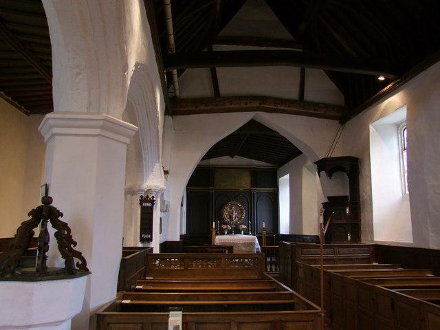 Interior, Hamstead Marshall Church