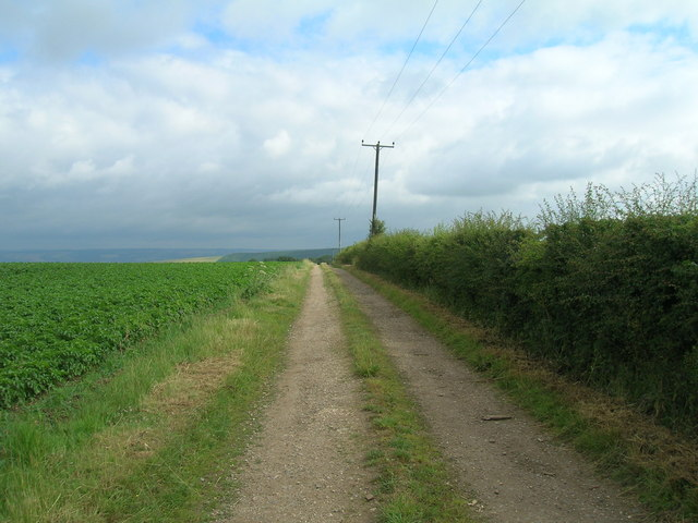 Farm track off High Street, heading north