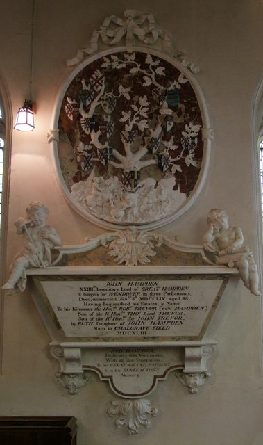 John Hampden memorial in Great Hampden Church