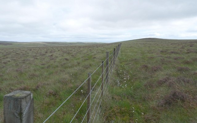 Fence below Cnoc Fuarain