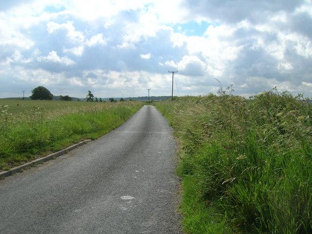 Minor road towards Duggleby