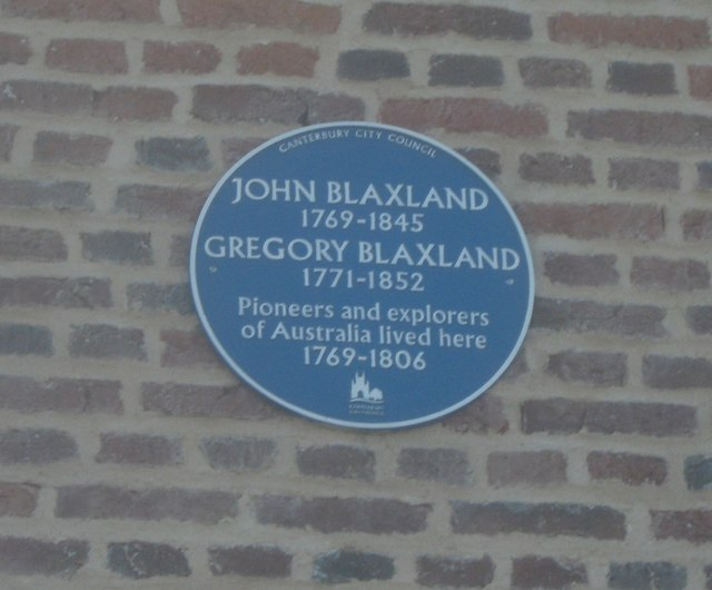 Blaxland Family Plaque