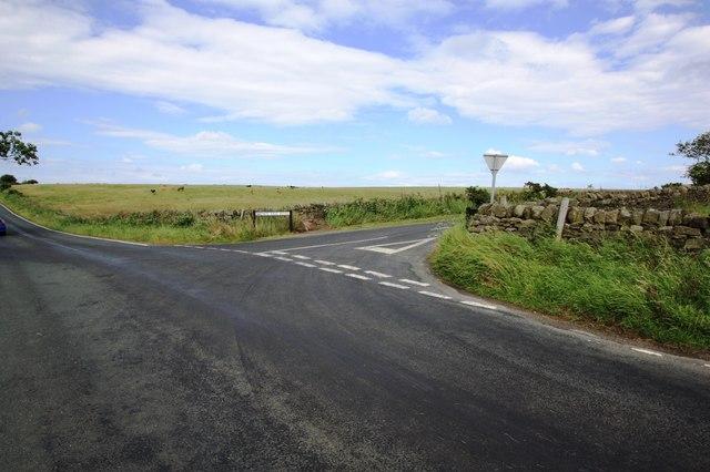 Road junction near Gainforth Wath