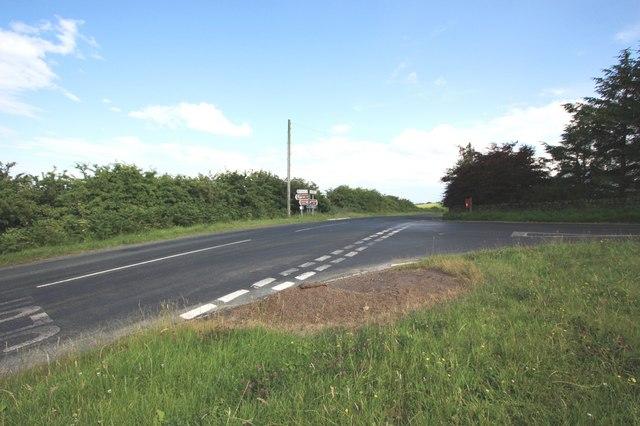 Road junction near Rudda Farm