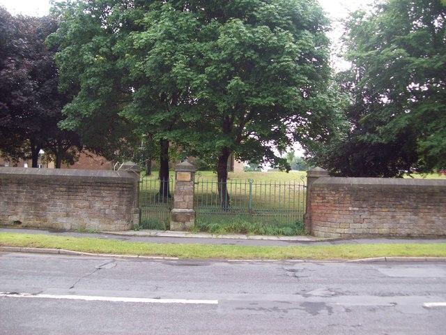 Entrance Gates to Crimicar Lane Isolation Hospital