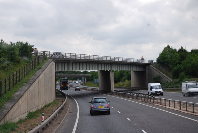 A505 bridge over the A11