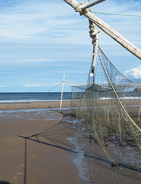 Salmon Nets at Lunan Bay