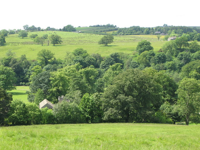 The valley of the River South Tyne near Featherstone Castle