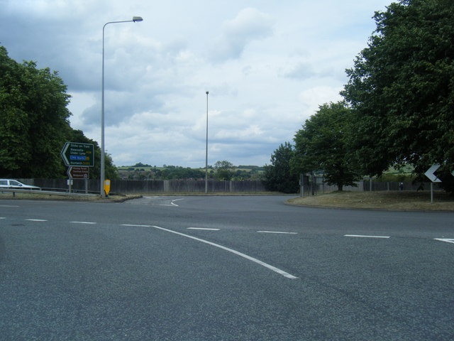 Brooms Road roundabout at A34/A51 junction