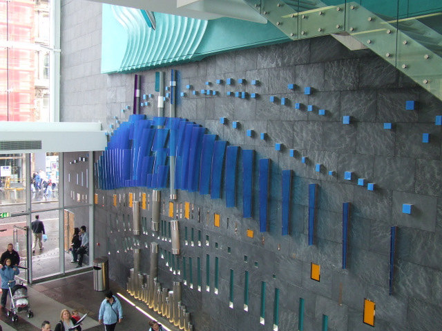 Artwork in the St Enoch shopping centre