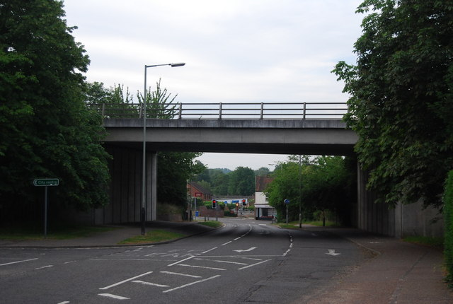 A11 bridge over Bluebell Rd, Eaton