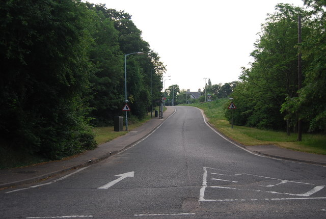 Slip road on to the A11, Eaton