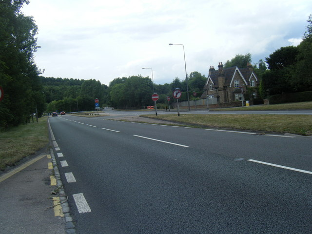 A34 approaching Meaford roundabout