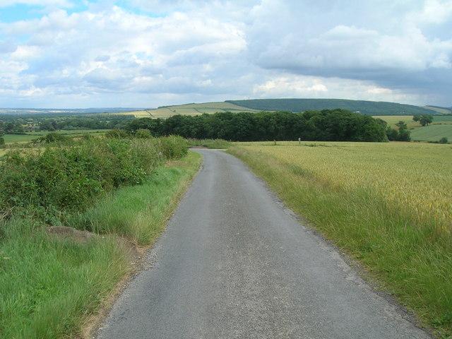 Minor road towards Thorpe Bassett