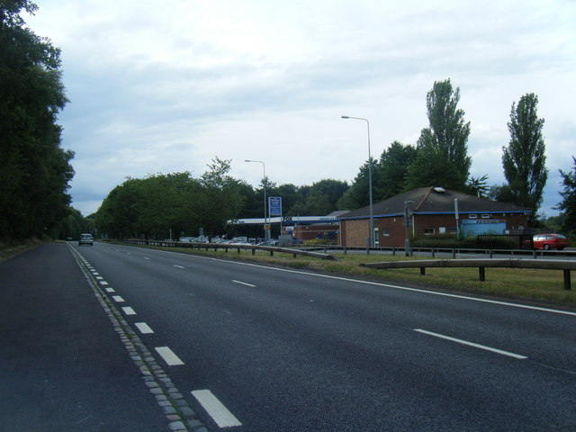 Indian restaurant and car sales on A34