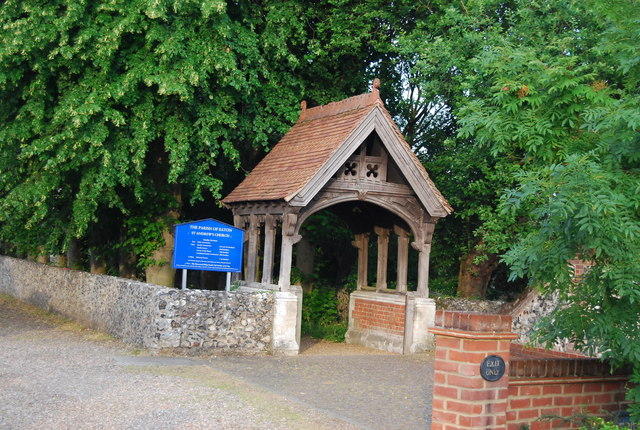 Lych Gate, St Andrew's Church, Eaton