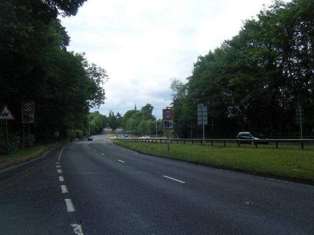 A34 northbound near Tittensor