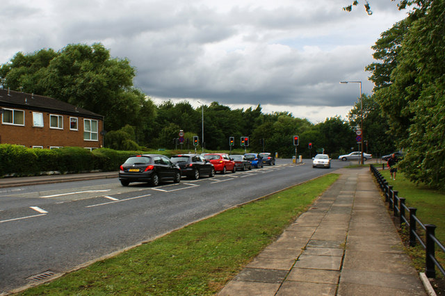 Lancaster Road at its junction with the East Lancs Road