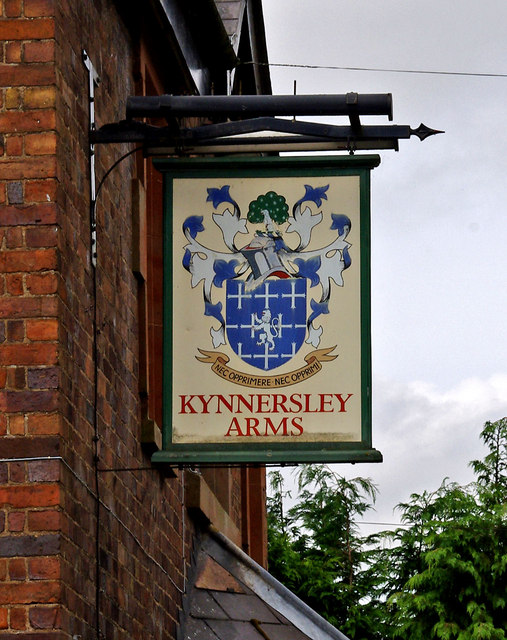 Kynnersley Arms (pub sign)