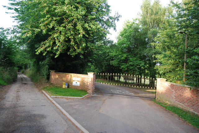 Scout Activity Centre entrance, Church Lane, Eaton