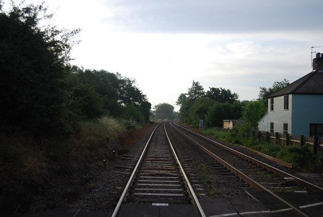Railway line, Church Lane level crossing, looking east