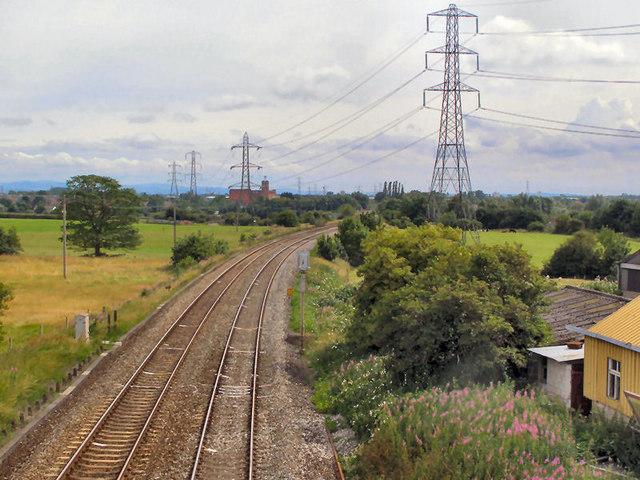 Railway from Boarshaw Lane