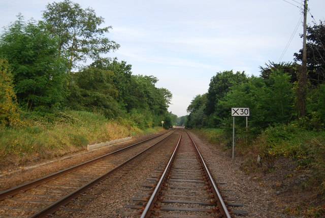 Railway west of Church Lane