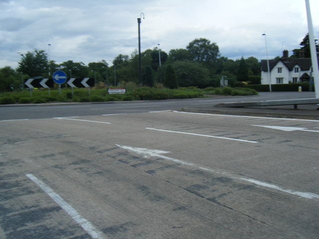 A34 roundabout at Trentham
