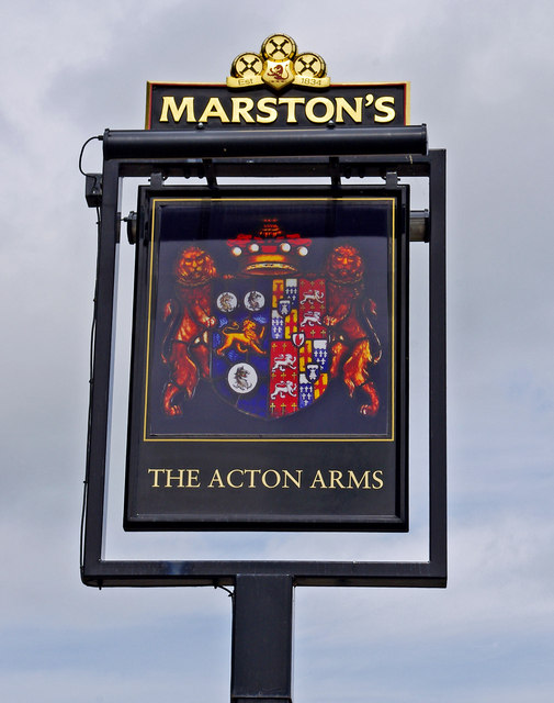 The Acton Arms (pub sign), Haughton Lane
