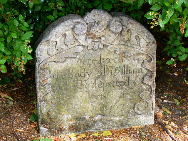 17th century grave, St Mary's Church, Cheltenham