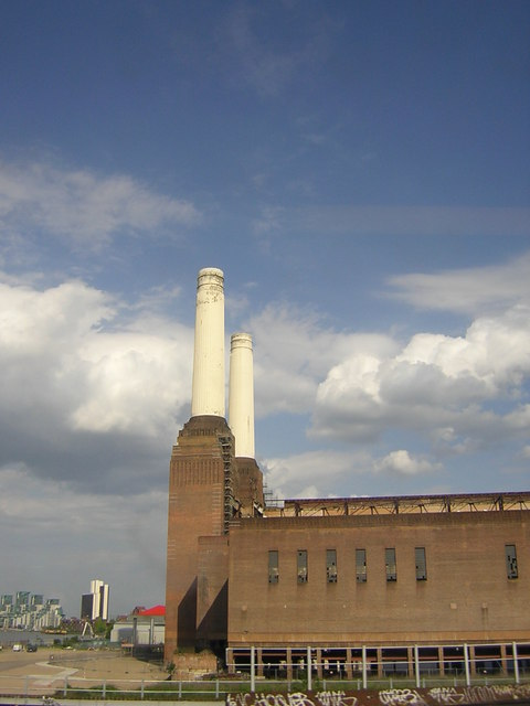 Battersea Power Station and clear skies